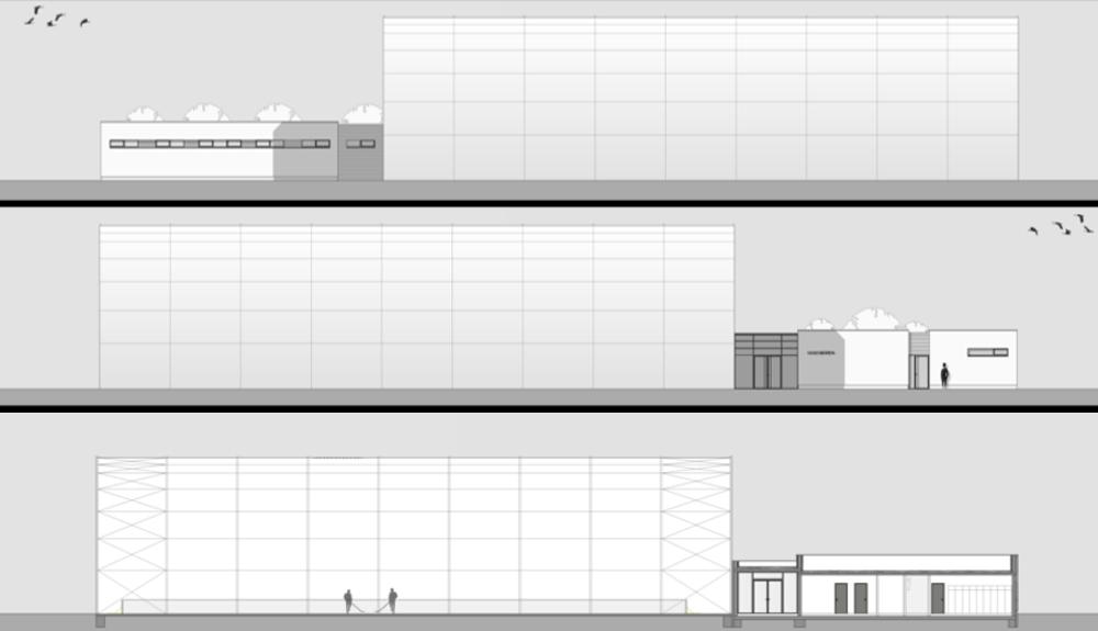 Projektbild 2, Inlinehockeyhalle   |   Rostock