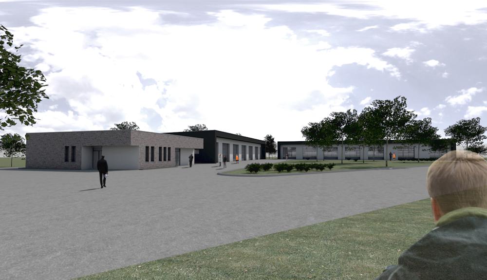 Projektbild 1, Neubau Bundeswehr-Dienstleistungszentrum  |  Waldkaserne Hilden