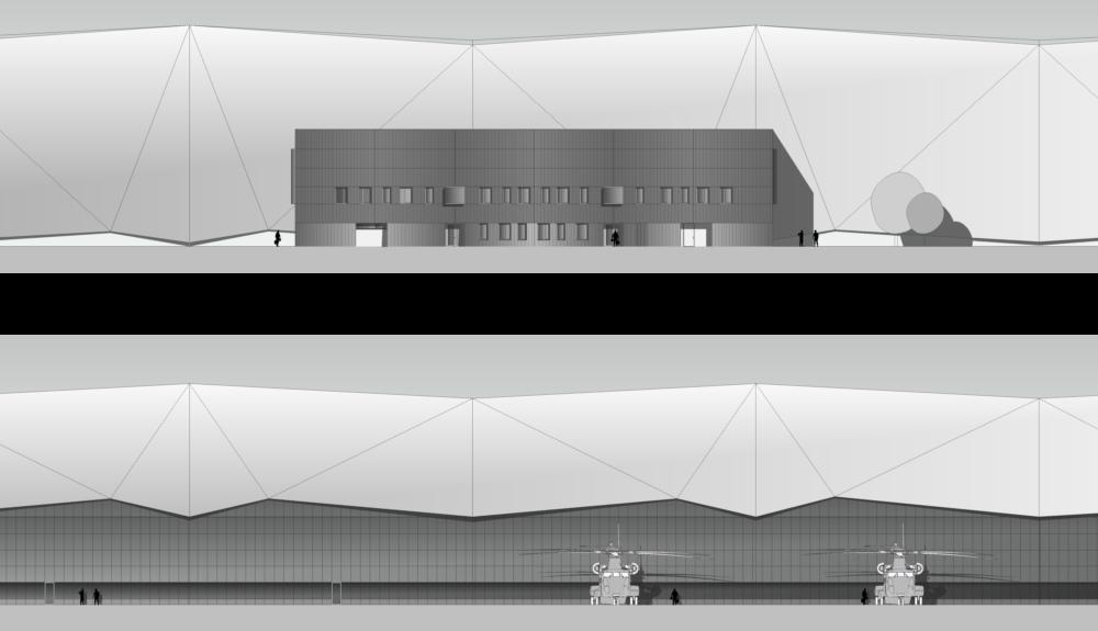 Projektbild 2, Neubau einer Halle für Luftfahrzeuge     Flugplatz Holzdorf