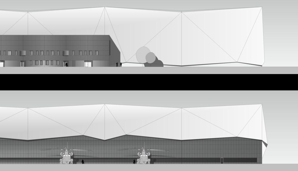 Projektbild 3, Neubau einer Halle für Luftfahrzeuge     Flugplatz Holzdorf