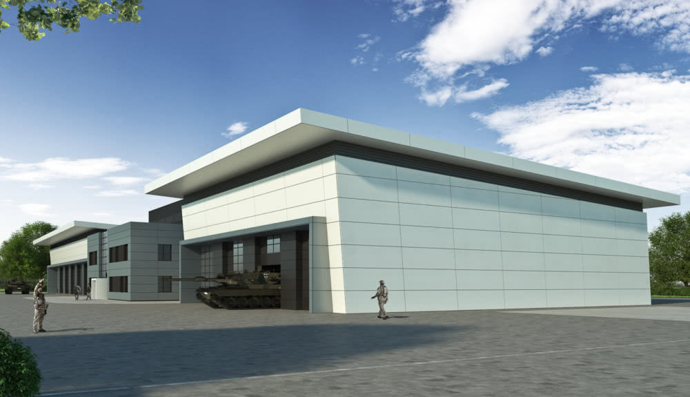 Projektbild 2, Kfz Instandsetzungshalle |  |  H.-J. Zieten Kaserne Beelitz
