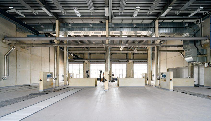 Bild Titelseite: Neubau Kfz - Instandsetzungshalle | Beelitz
