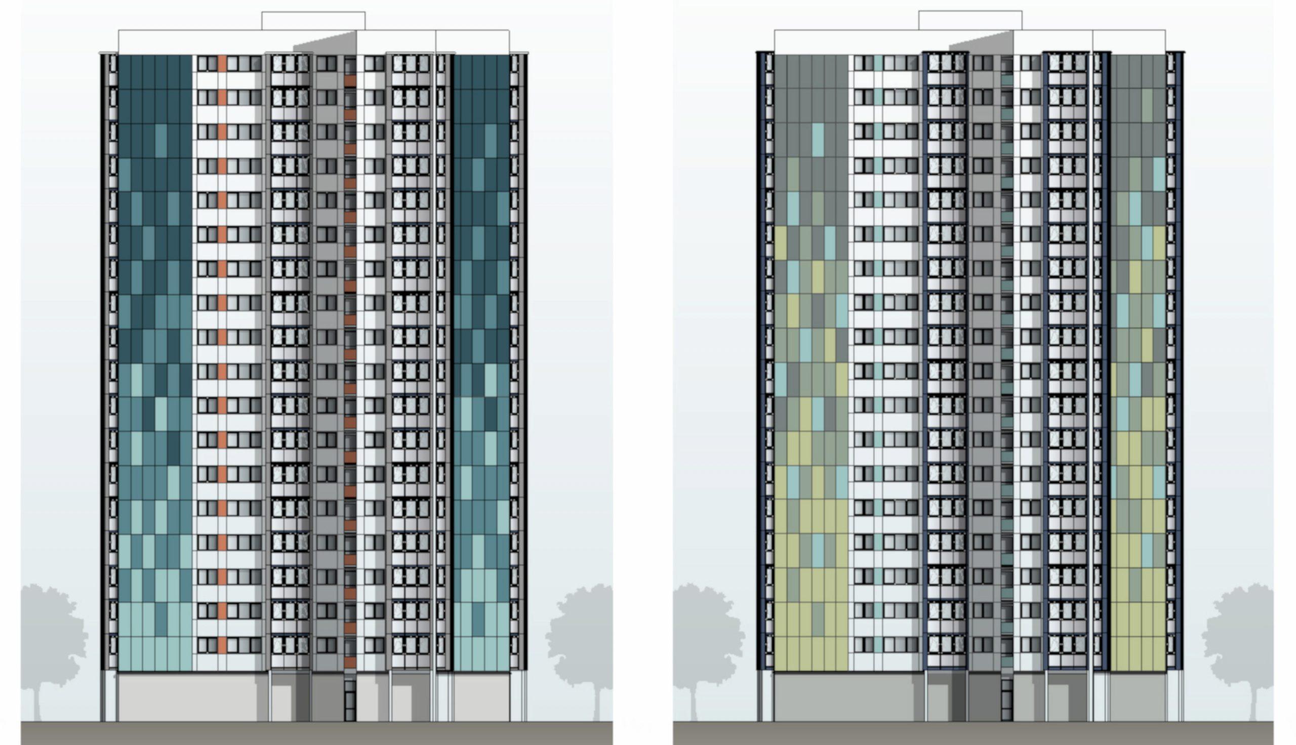 Projektbild 3, Hochhaus in der Ahlbecker Straße 8 | Rostock – Lütten-Klein