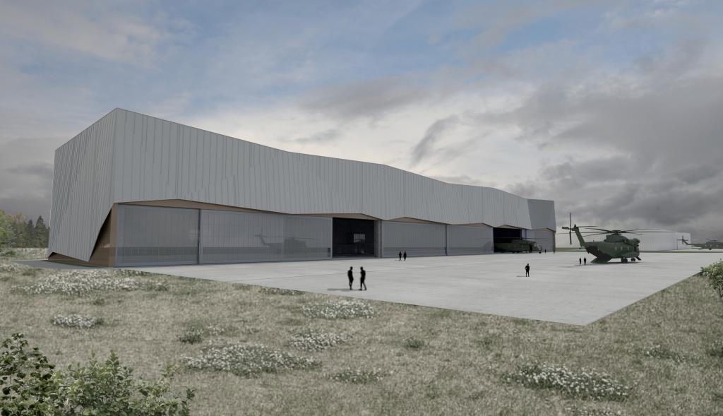 Bild Titelseite: Neubau einer Halle für Luftfahrzeuge | Flugplatz Holzdorf