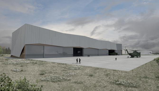 Projektbild 2, Neubau einer Halle für Luftfahrzeuge  |  Flugplatz Holzdorf
