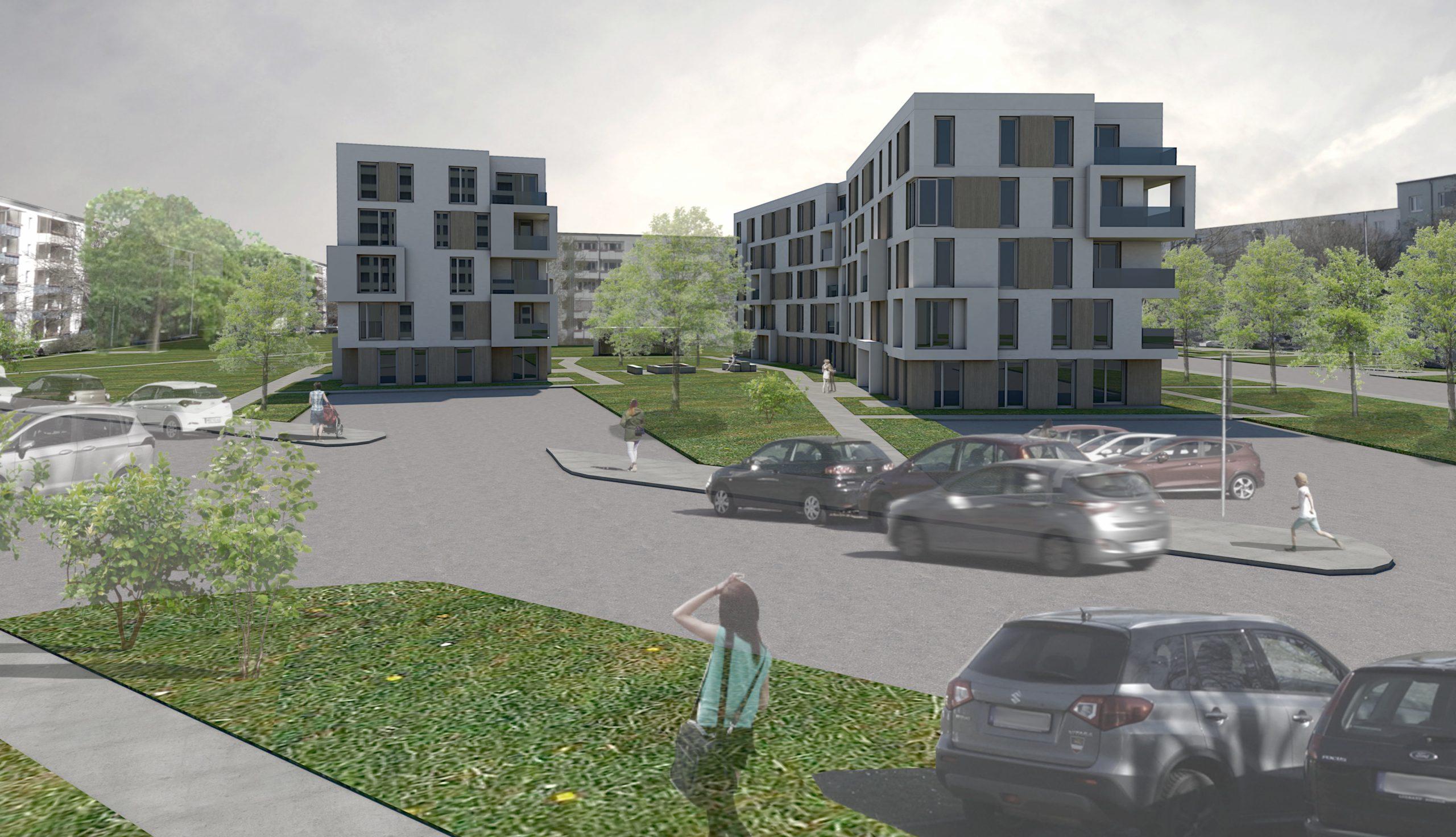 Projektbild 5, Neubau eines Wohnquartiers mit 50 Wohneinheiten   |   Rostock – Südstadt