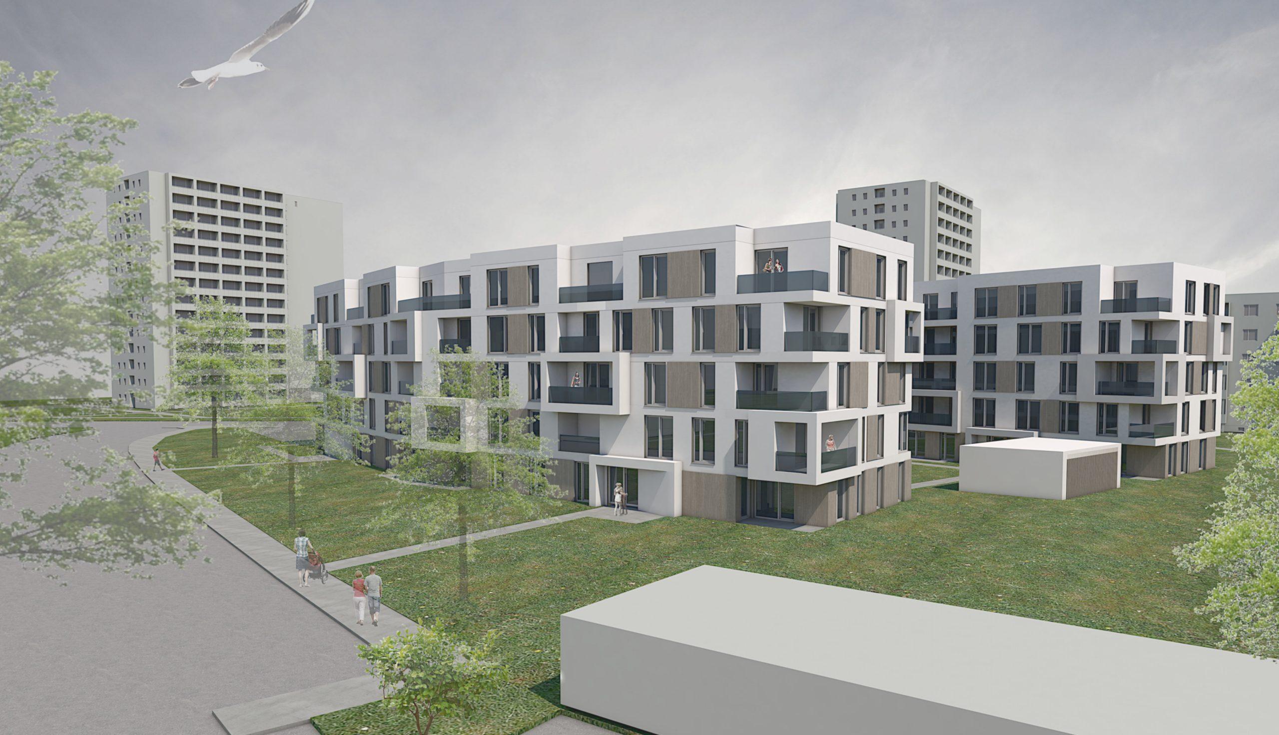 Projektbild 3, Neubau eines Wohnquartiers mit 50 Wohneinheiten   |   Rostock – Südstadt