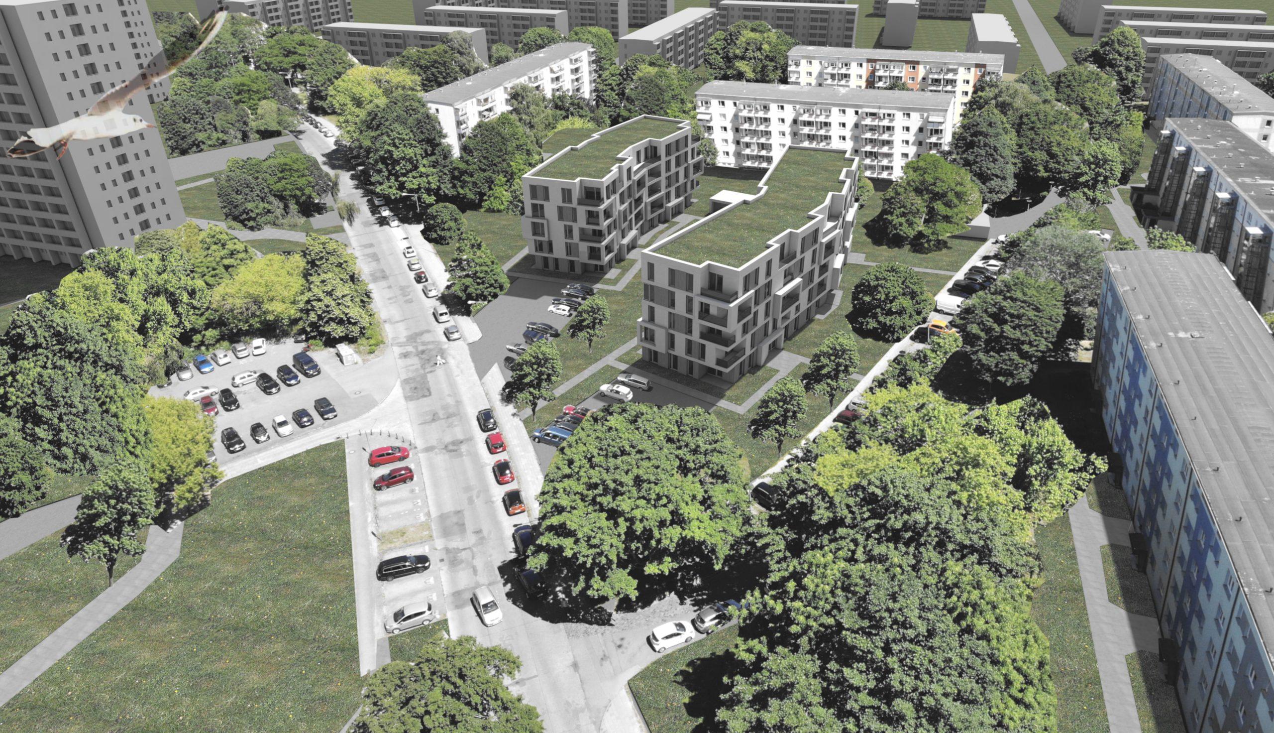 Projektbild 2, Neubau eines Wohnquartiers mit 50 Wohneinheiten   |   Rostock – Südstadt