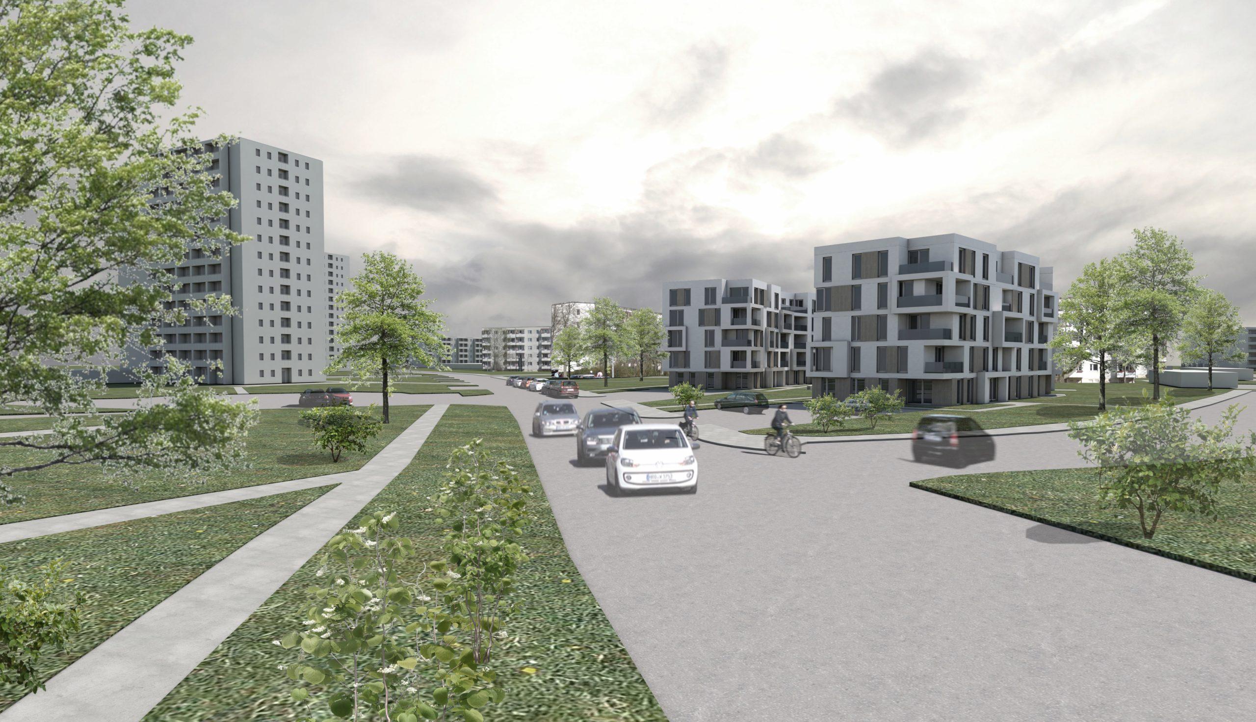 Projektbild 4, Neubau eines Wohnquartiers mit 50 Wohneinheiten   |   Rostock – Südstadt
